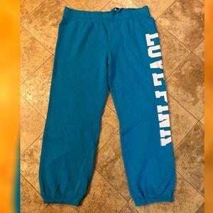 Victoria's Secret PINK Blue Sweatpants Joggers